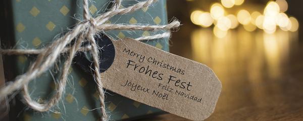 Weihnachten geschenk Etiquette Frohes Fest Feliz Navidad Joyeux Neol